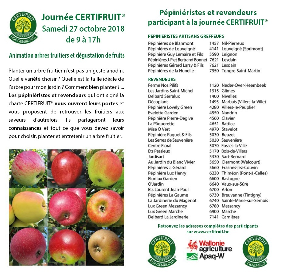 Quel Fruit Planter journée certifruit : animation arbres fruitiers et